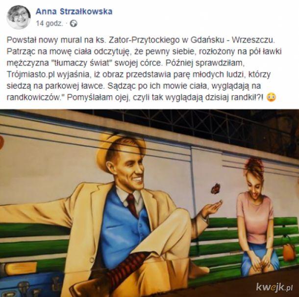 Feministka oburzona, że facet na muralu jest zbyt pewny siebie