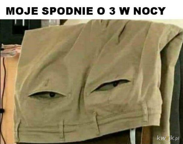 Spodnie w nocy