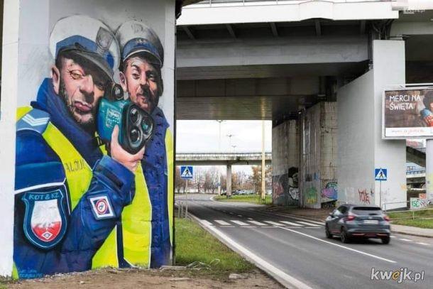Jak ostrzec ludzi przed bagietami czającymi się pod mostem? Szczecińscy grafficiarze zrobili to jak widać. Szacun, chłopaki!