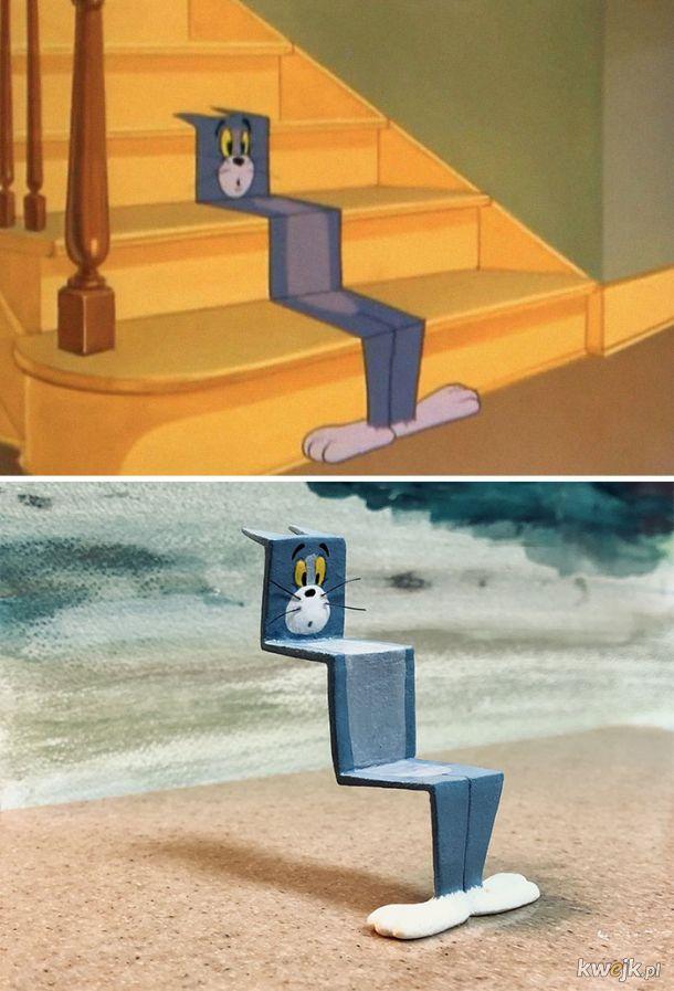 Tom i Jerry wyrzeźbieni przez japońskiego artystę