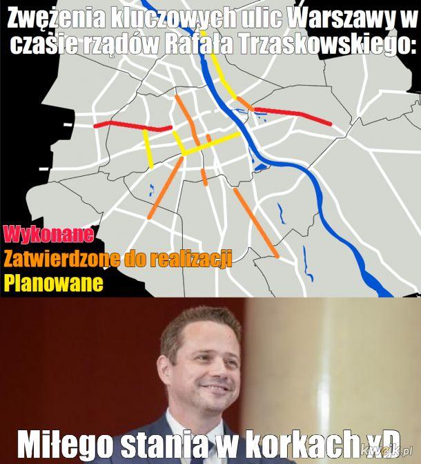 Zwężanie ulic w Warszawie