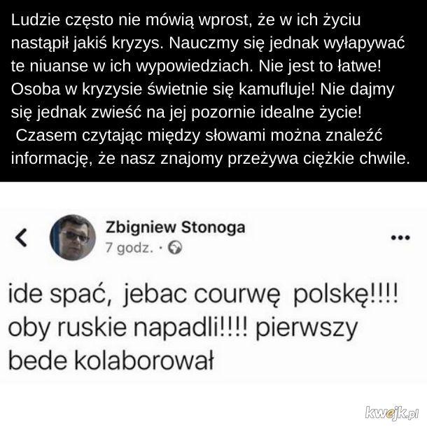 Mam wrażenie, że coś złego dzieje się u Zbyszka...