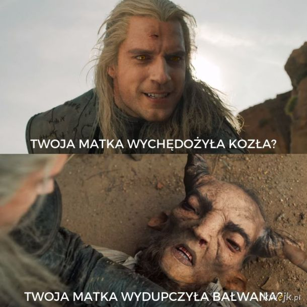 Geralt to Bałwanek Bouli