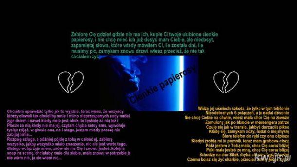 CIENKIE PAPIEROSY (Lyrics Card)