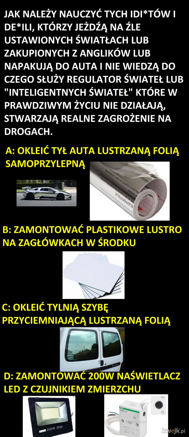 Jak żyć w tej polskiej patologi na drogach?