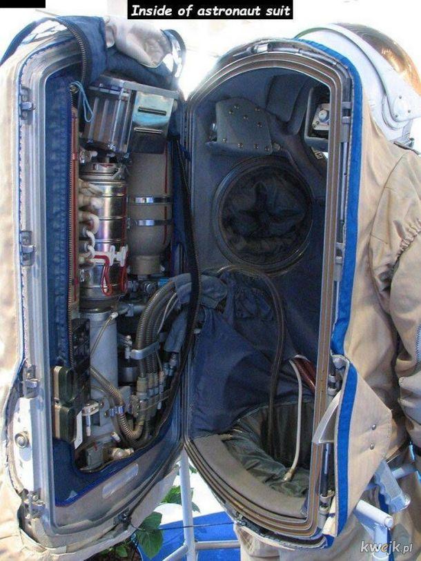 wnętrze skafandra astronauty