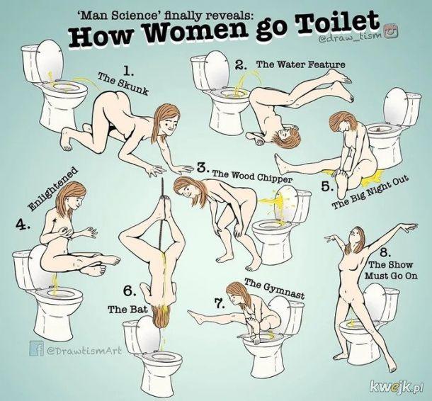 Jak kobiety korzystają z toalety
