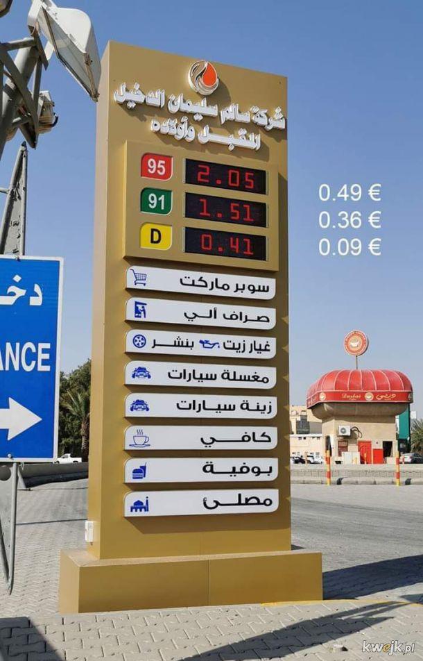 Tymczasem ceny paliwa na bliskim wschodzie :(