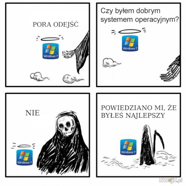 Żegnaj, Win7