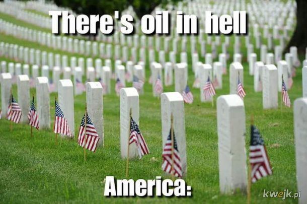 Ameryka kocha olej.