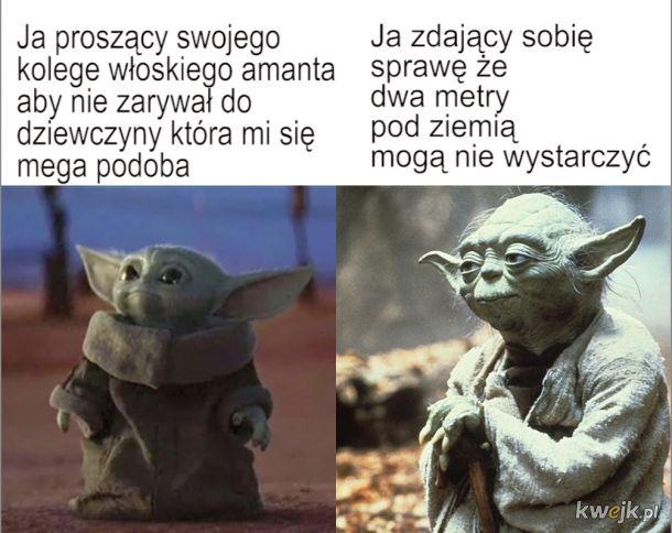 Baby Yoda Stary Yoda Mem