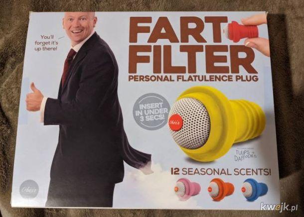 filtr pierdów