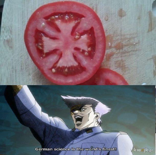 Niemieckie pomidory.