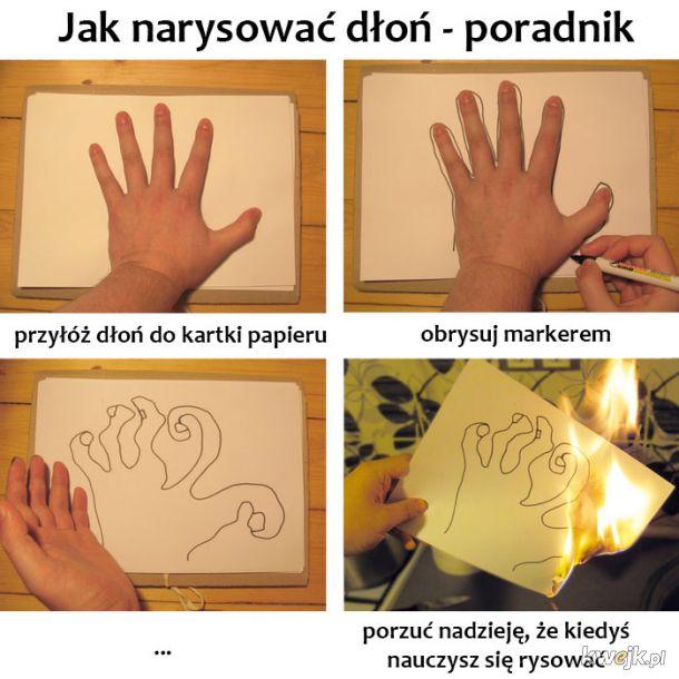 Rysowanie dłoni