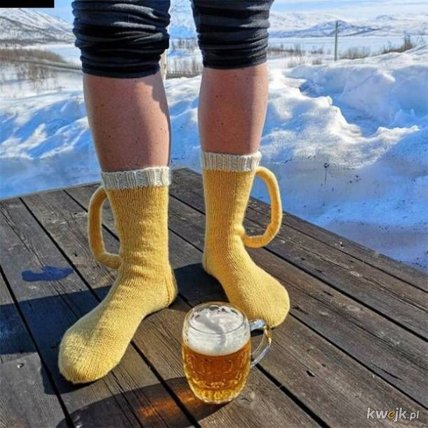 ciepłe zimowe skarpety