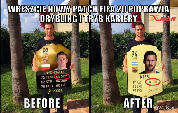 Fifa 20 nowy patch - znacie innych komu patch pomoże?