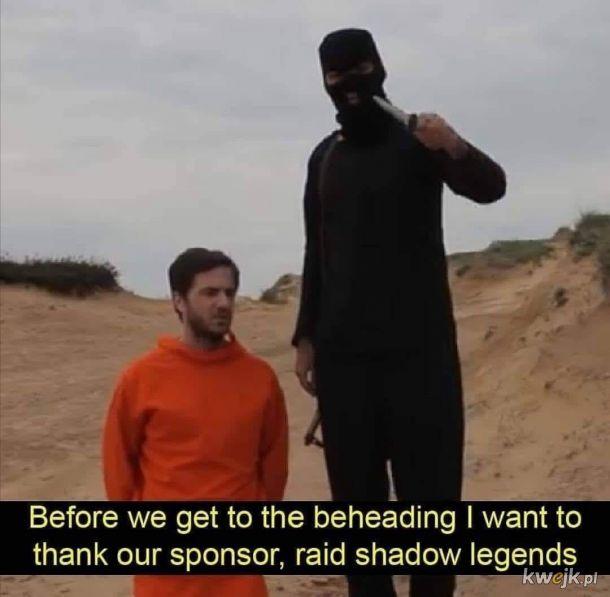 Raid shadow legends jest wszędzie :(