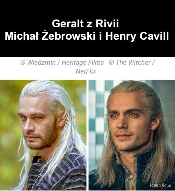 Jak wyglądają bohaterowie z Wiedźmina w ekranizacjach z 2001 i 2019