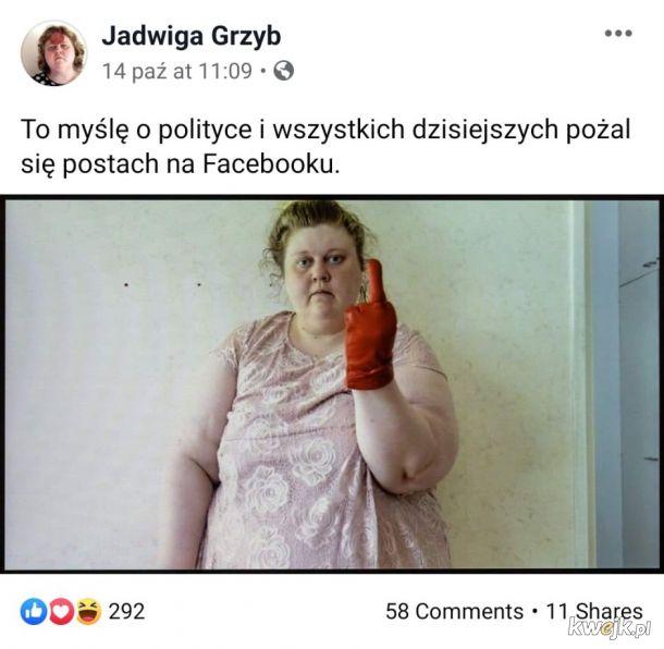 Jadwiga Grzyb, emigrantka, która została królową polskiego fejsa