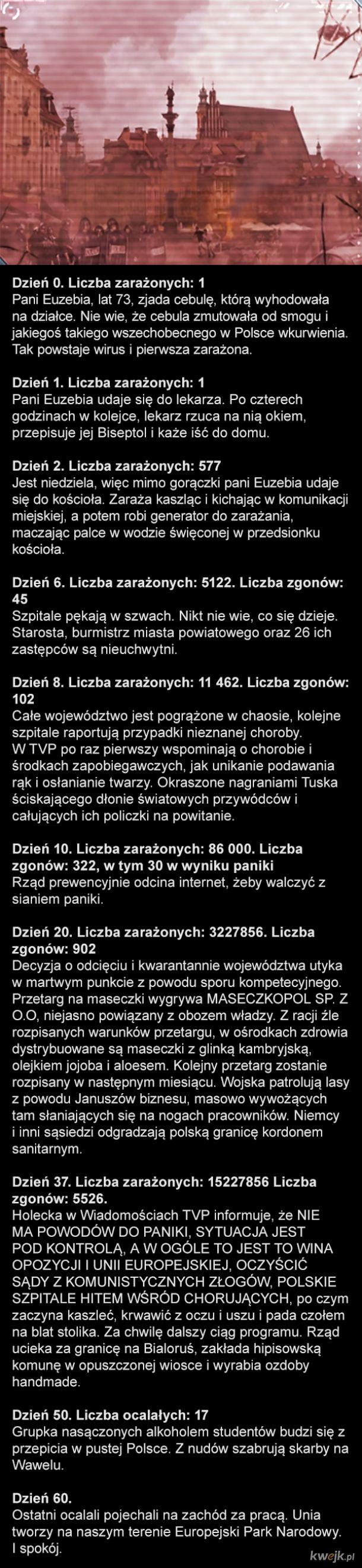 Symulacja wirusa w Polsce