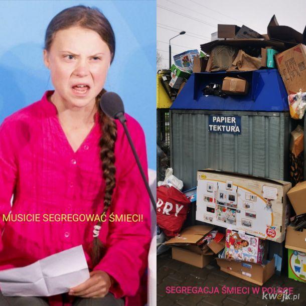 Greta Thunberg przemówiła, a Polacy i tak wiedzą swoje :)