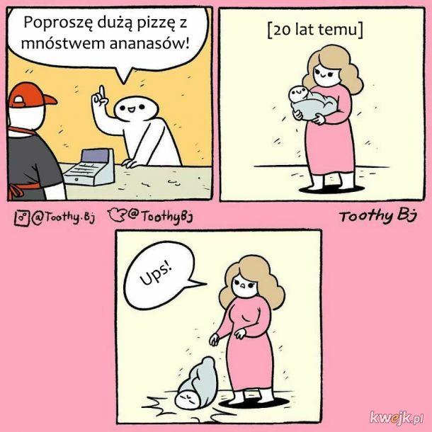 Odrobina czarnego humoru, czyli komiksy od ToothyBj
