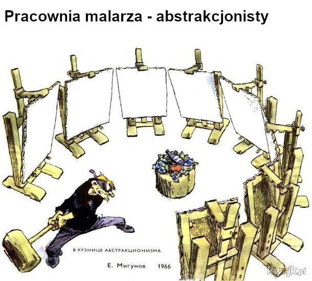 Sowiecki humor na temat sztuki