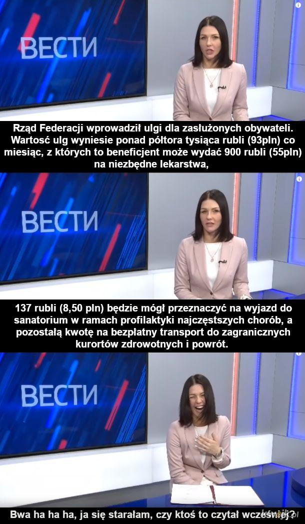 Wiadomości w rosyjskiej tv