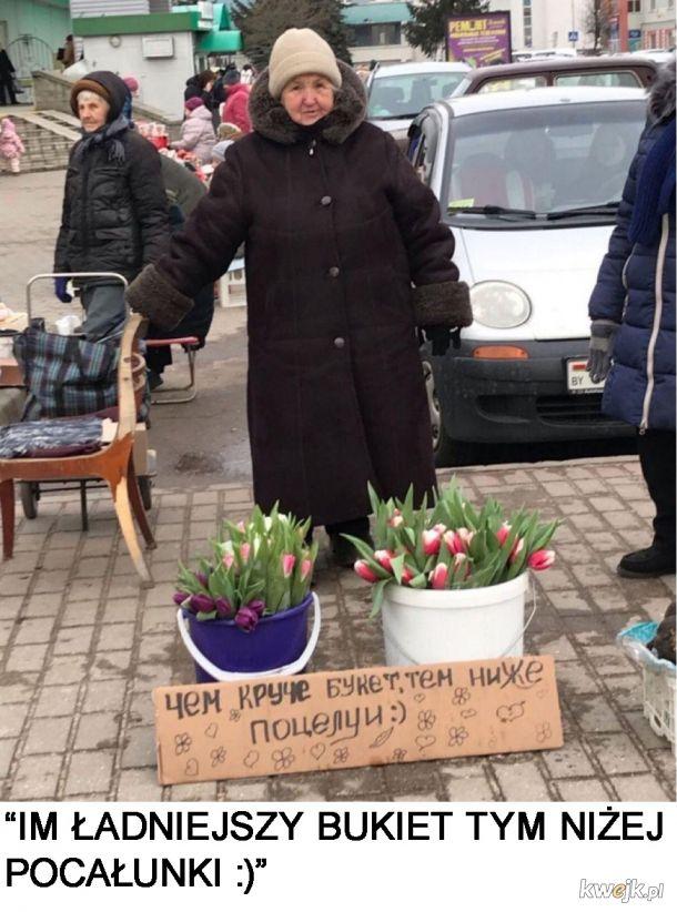 Reklama kwiatków