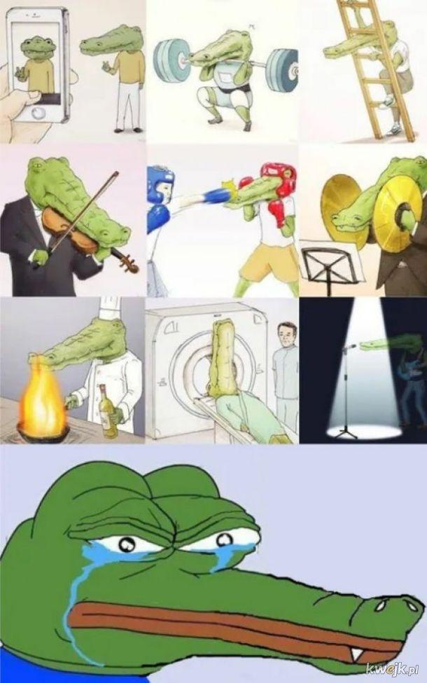 Smutny krokodyl