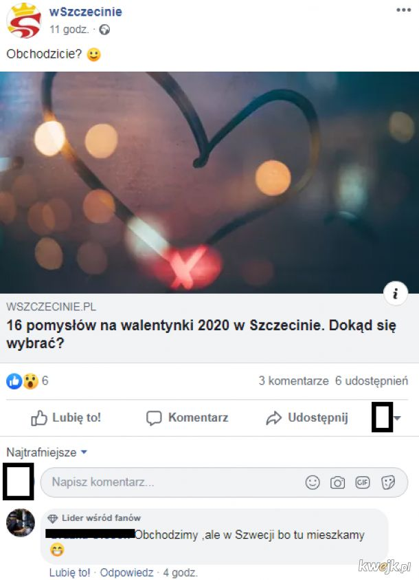A czy ty obchodzisz Walentynki w Szczecinie w Szwecji?