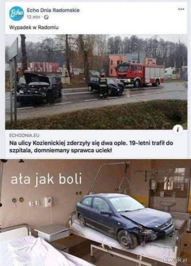 Wypadek w Radomiu