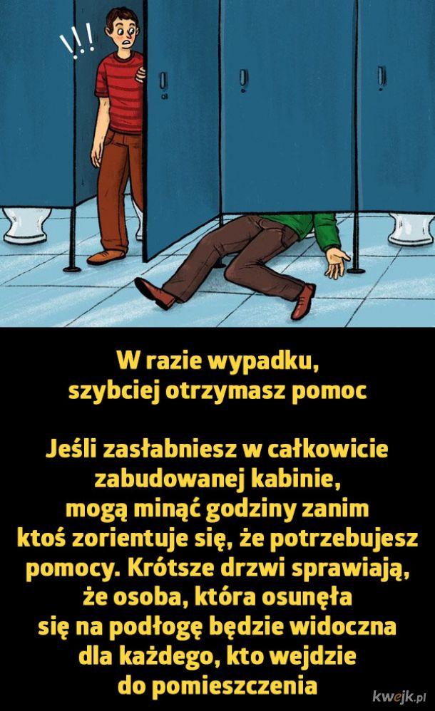 Dlaczego drzwi w publicznych toaletach są takie krótkie?, obrazek 2