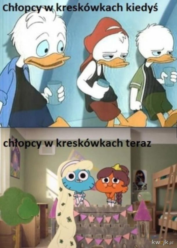 Chłopcy w kreskówkach