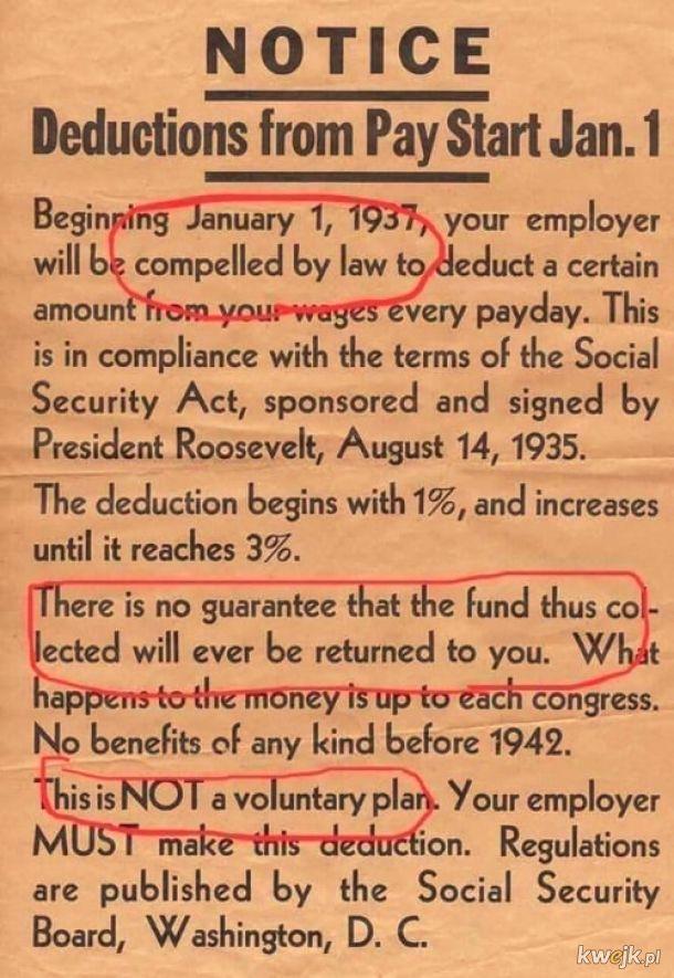 Ubezpieczenia społeczne w USA - początek