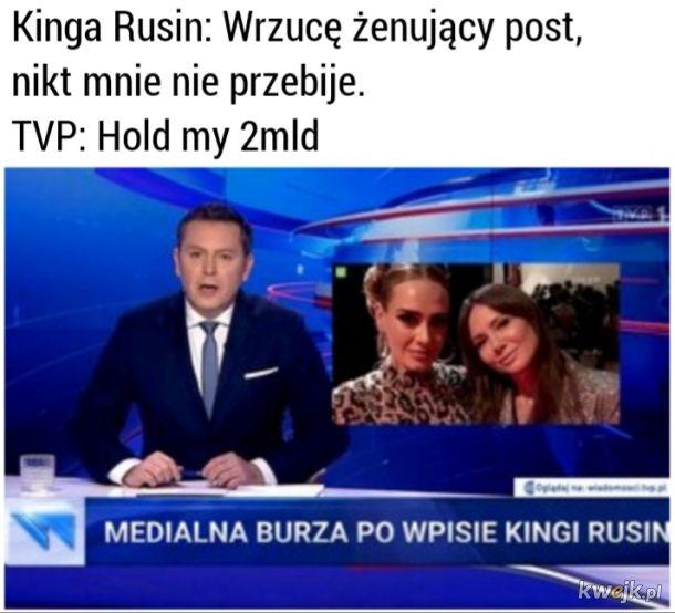 Kinga Rusin vs TVP