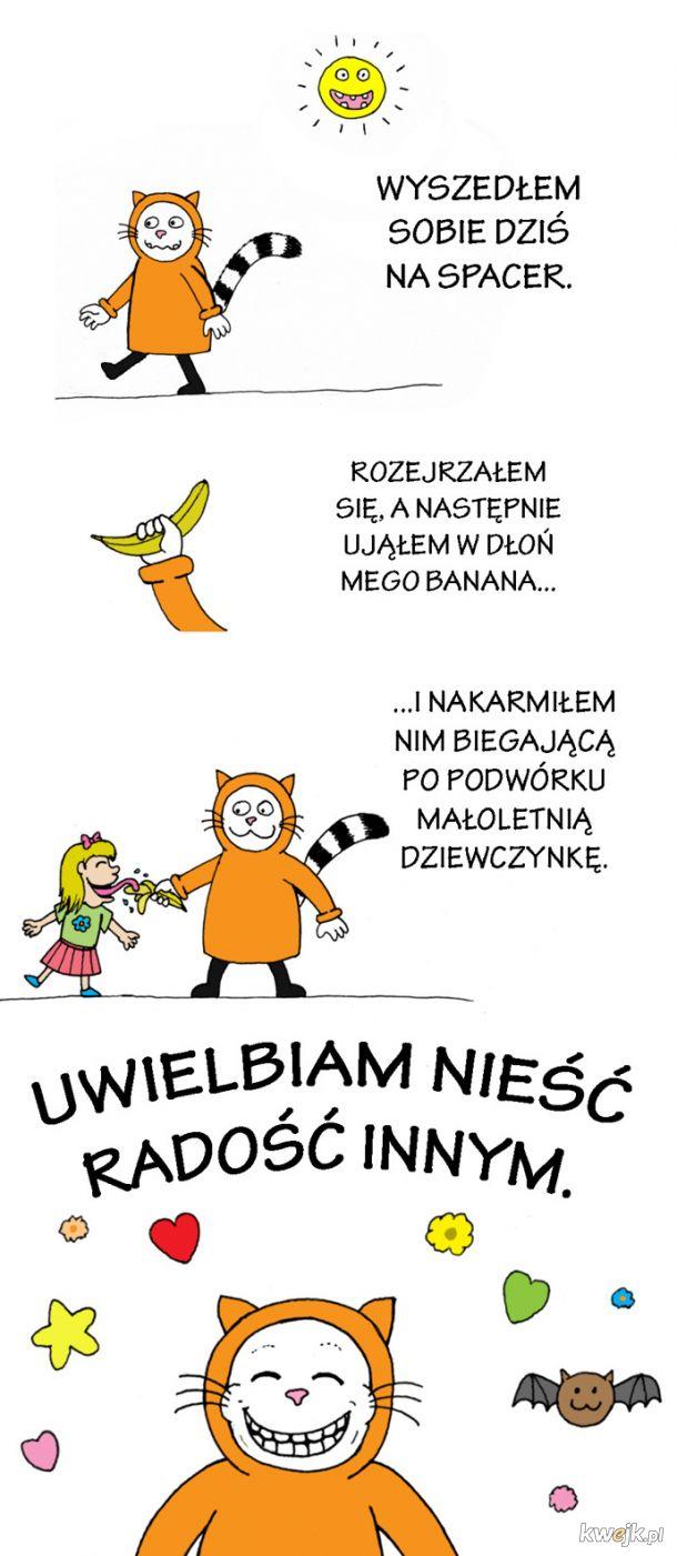 Koci Kapturek niesie radość dzieciom