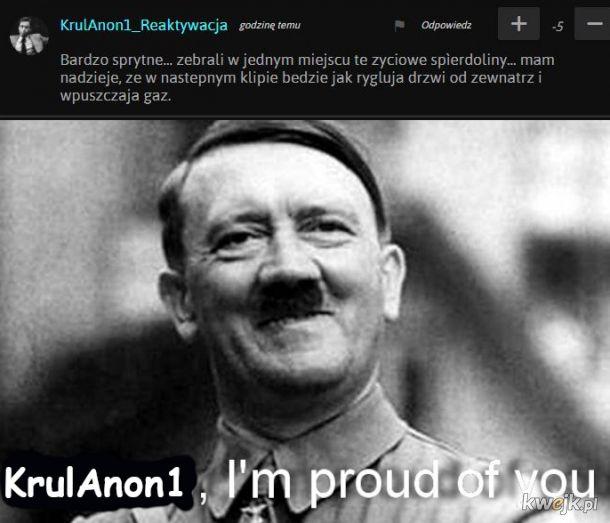 Wujek Adolf jest dumny.