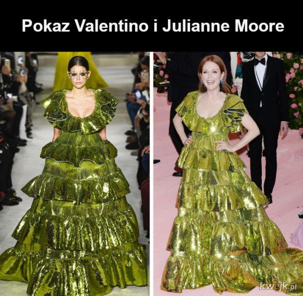 Suknie z pokazów mody na gwiazdach kina - kto nosi te ubrania lepiej?