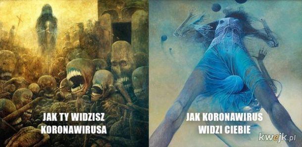 Pewien internauta przerabia obrazy Beksińskiego na memy o koronawirusie, obrazek 3