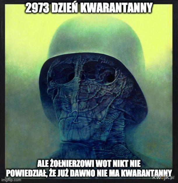 Pewien internauta przerabia obrazy Beksińskiego na memy o koronawirusie, obrazek 5