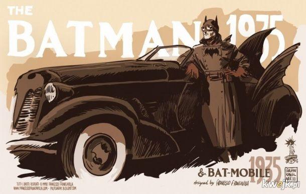 Jeden z pierwszych Batmanów na znaczkach