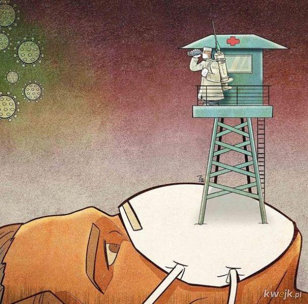 Irański artysta Alireza Pakdel przedstawia grafiki, które oddają hołd służbom walczącym z koronawirusem, obrazek 18