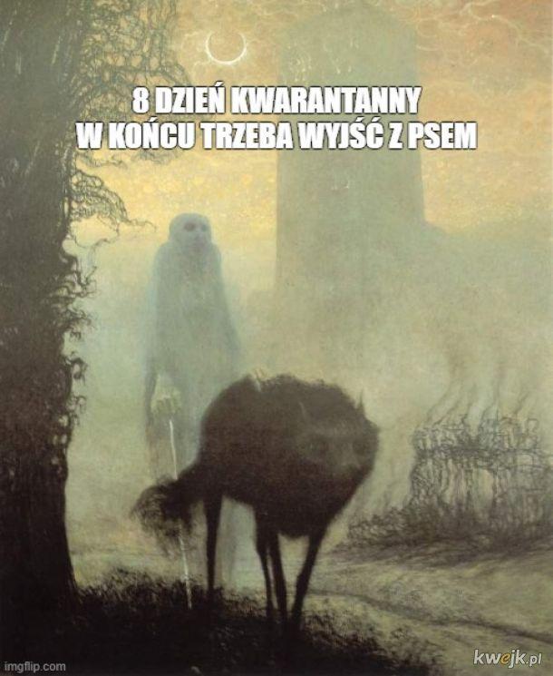 Pewien internauta przerabia obrazy Beksińskiego na memy o koronawirusie, obrazek 4