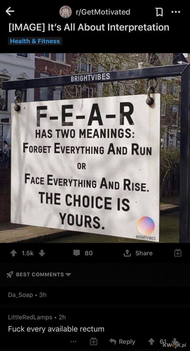 I feel no fear