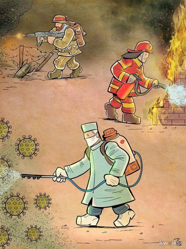 Irański artysta Alireza Pakdel przedstawia grafiki, które oddają hołd służbom walczącym z koronawirusem, obrazek 15