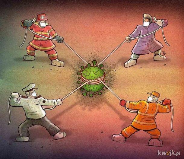 Irański artysta Alireza Pakdel przedstawia grafiki, które oddają hołd służbom walczącym z koronawirusem, obrazek 10