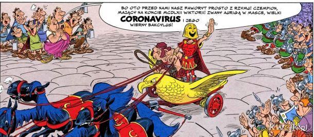 Czytam sobie komiks o Asterixie a tu przepowiednia....