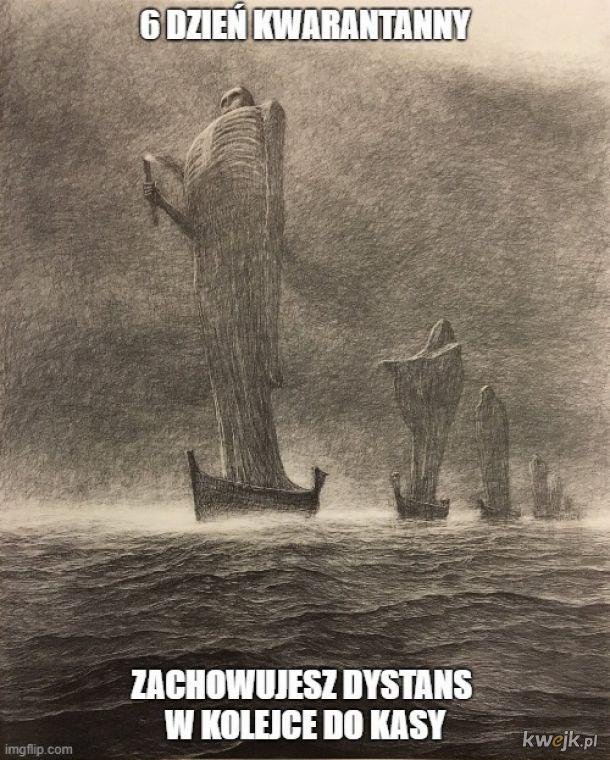 Pewien internauta przerabia obrazy Beksińskiego na memy o koronawirusie, obrazek 8