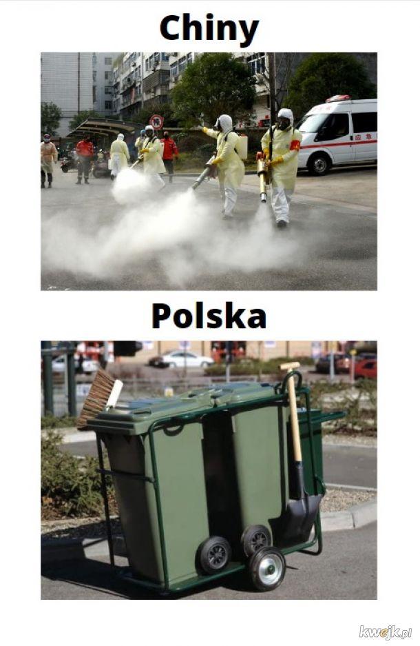 Sprzątanie ulic w czasie epidemii